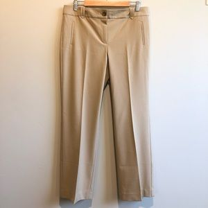NWOT Talbots 10P Tan Straight Leg Pant Trouser